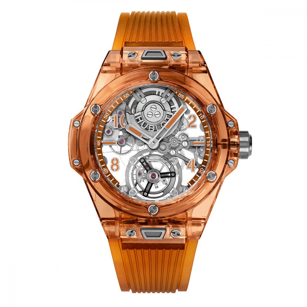 Hublot Big Bang Tourbillon Automatic Orange Sapphire 45mm Watch