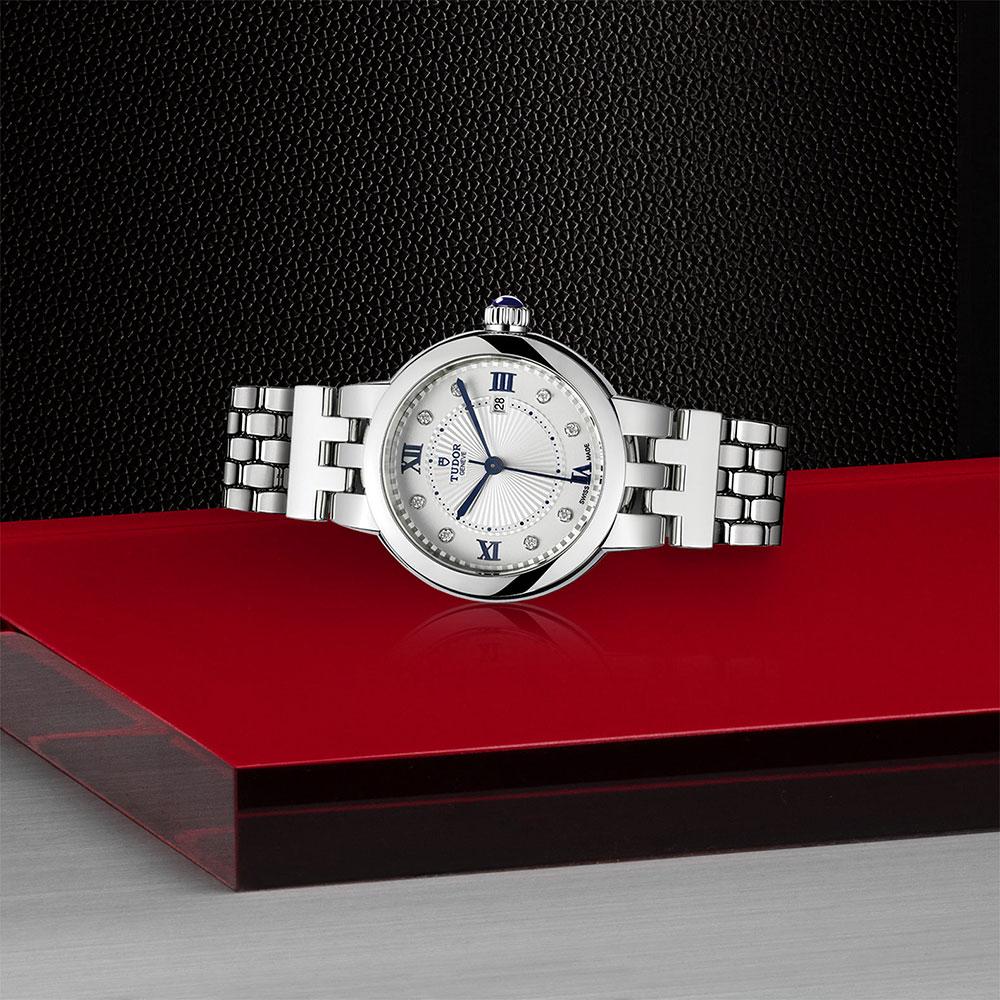 TUDOR Clair De Rose Diamond Dot 30mm Watch 35500
