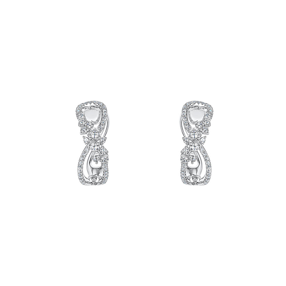 ROX Diamond Hoop Earrings 0.50cts
