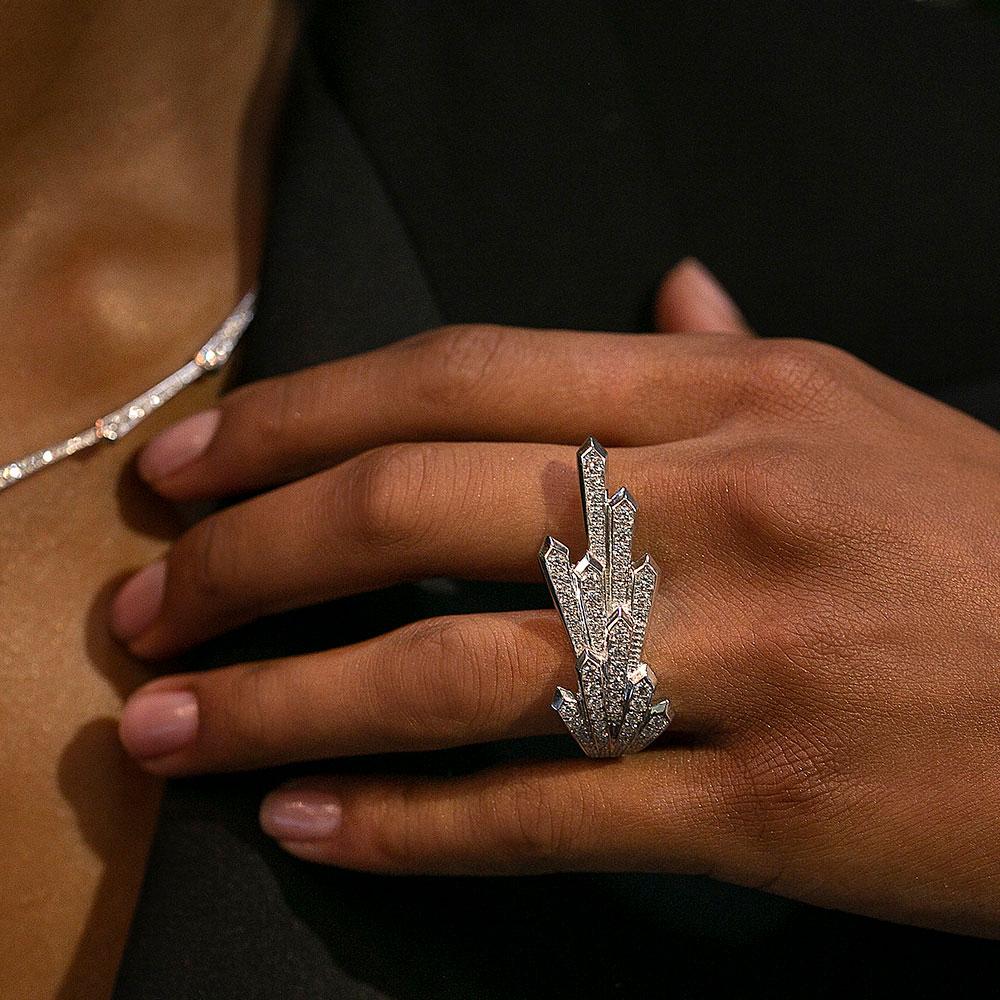 ROX Cosmic Diamond Starburst Dress Ring 1.40cts