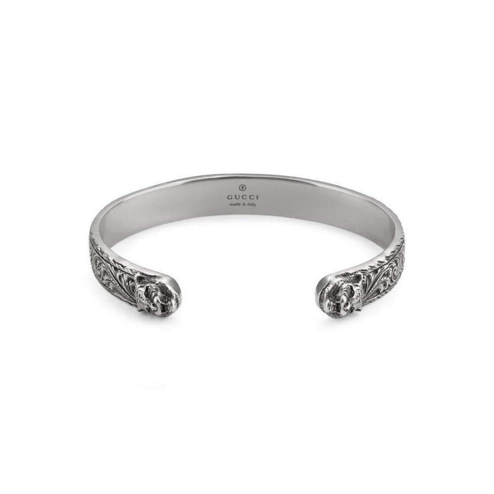 Gucci Garden Aged Silver Bracelet