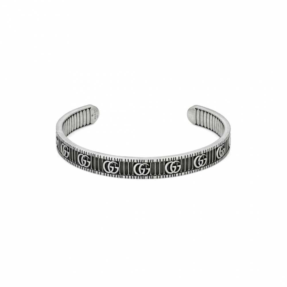 Gucci GG Marmont Aged Silver Bracelet
