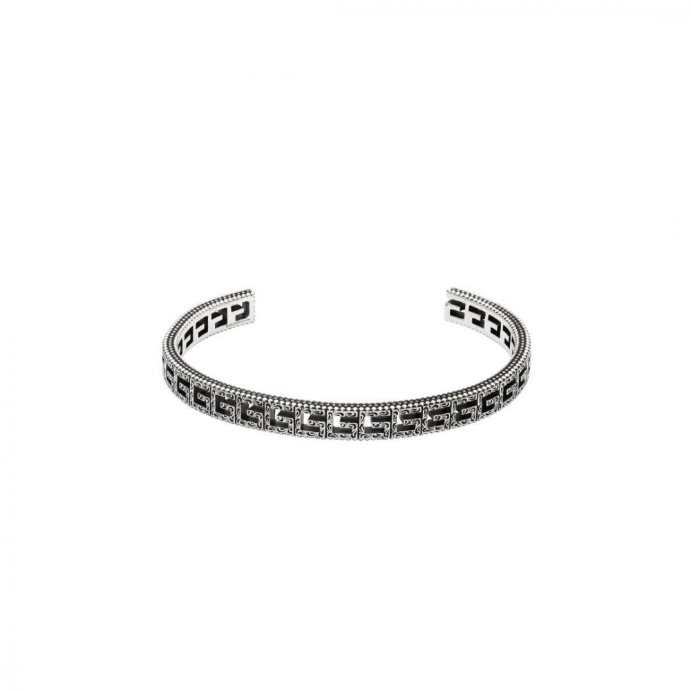 Gucci G Cube Aged Silver Bracelet